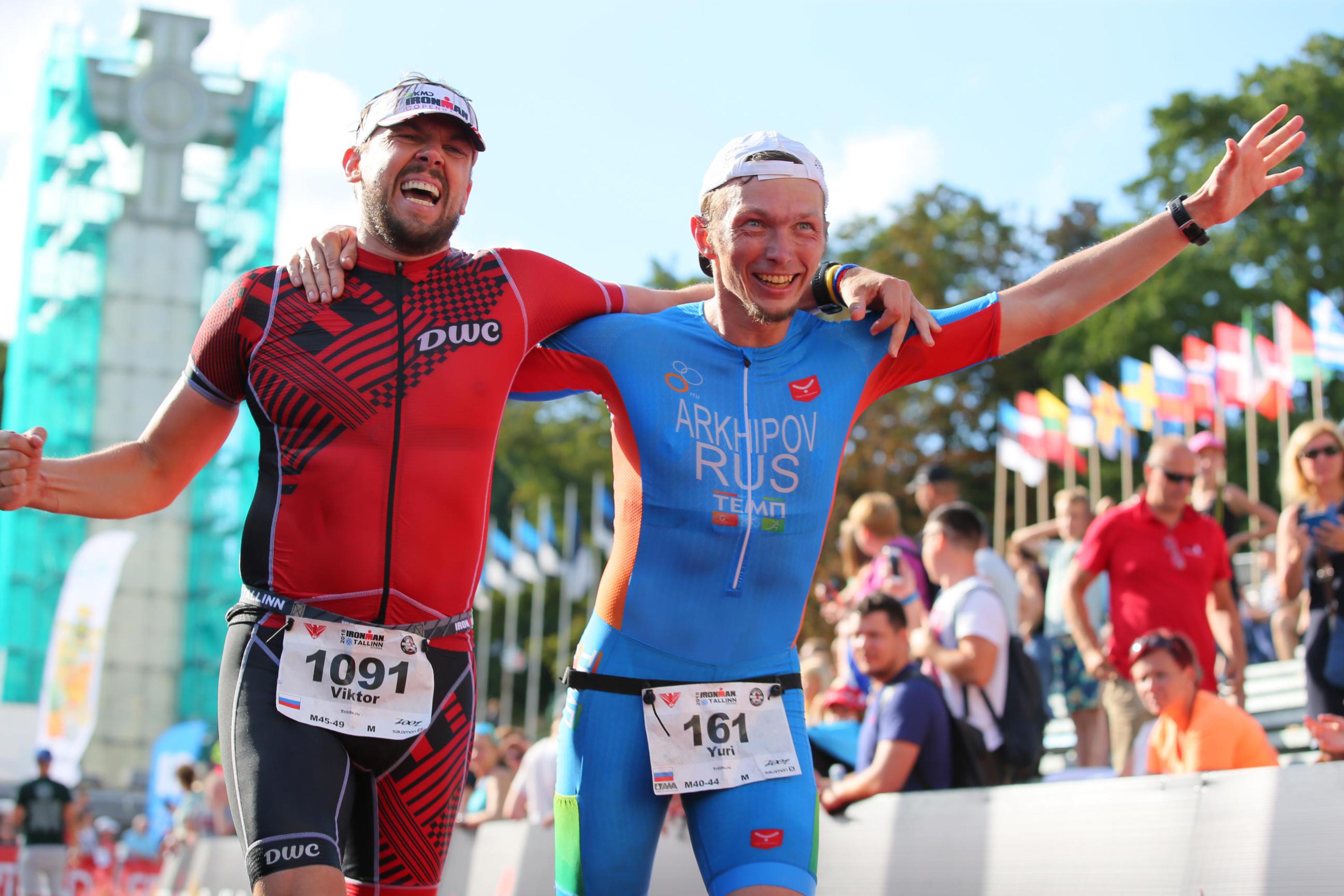 Финиш на Ironman Tallin