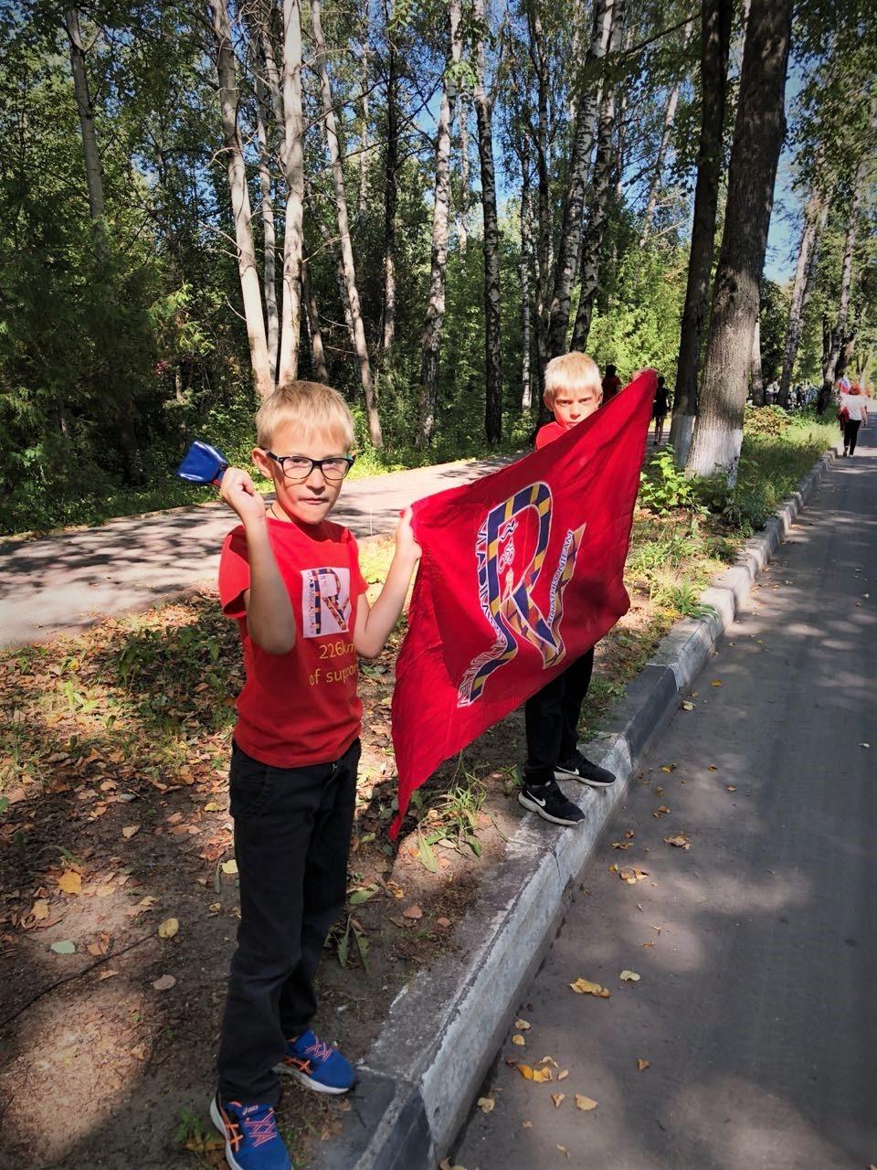 """Болельщики на триатлоне """"Николов Перевоз"""" в Дубне"""