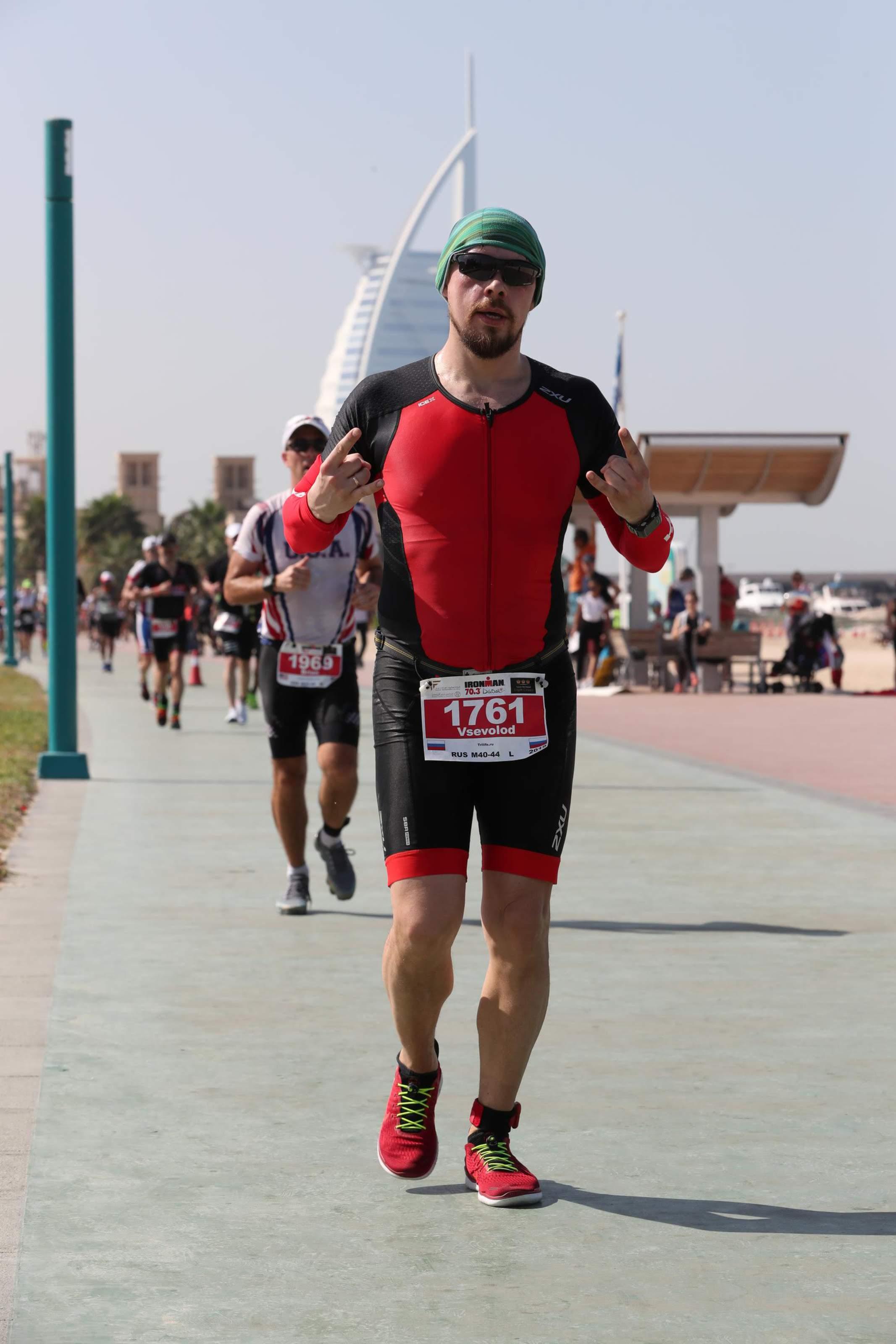 Бег на Ironman 70.3 Dubai