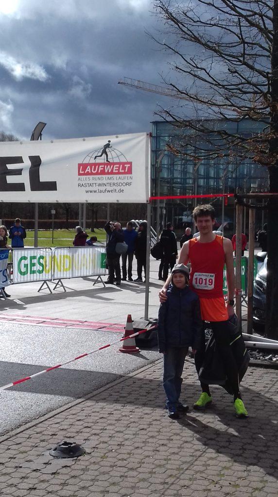 Полумарафон в Карлсруэ с сыном