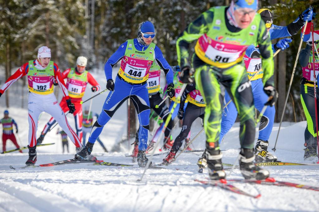 Пачка на дёминском лыжном марафоне