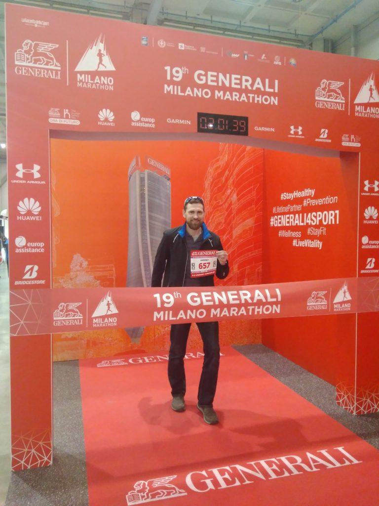 Перед стартом марафона в Милане