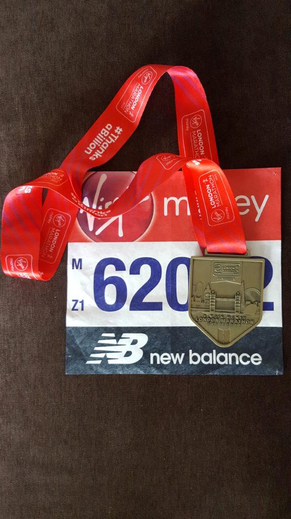 Медаль с марафона в Лондоне
