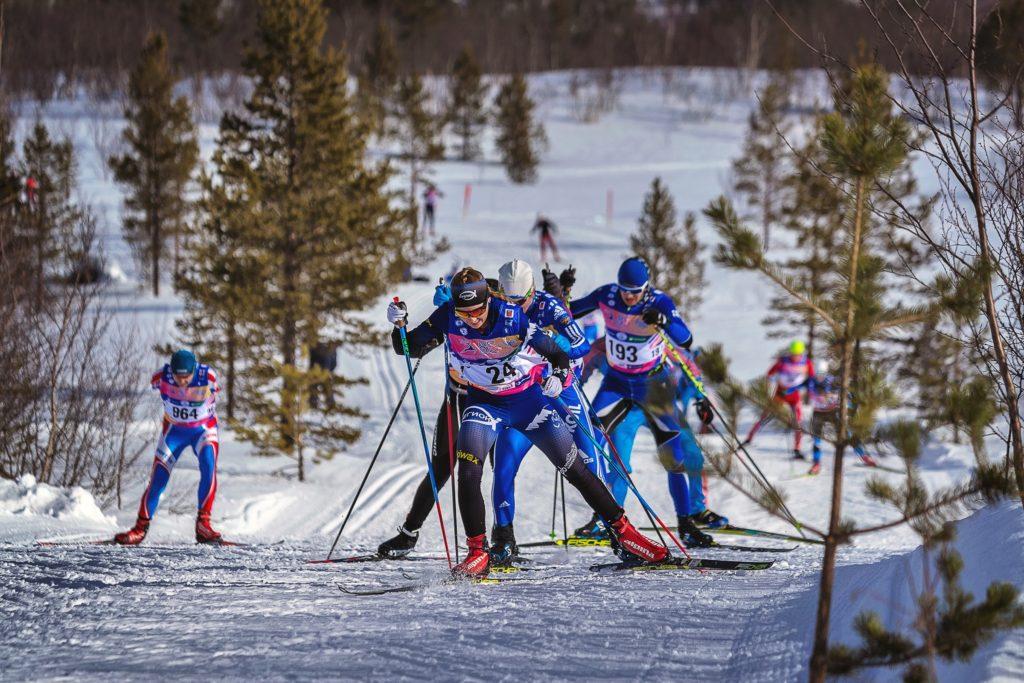 Подъёмы на лыжном марафоне в Мурманске