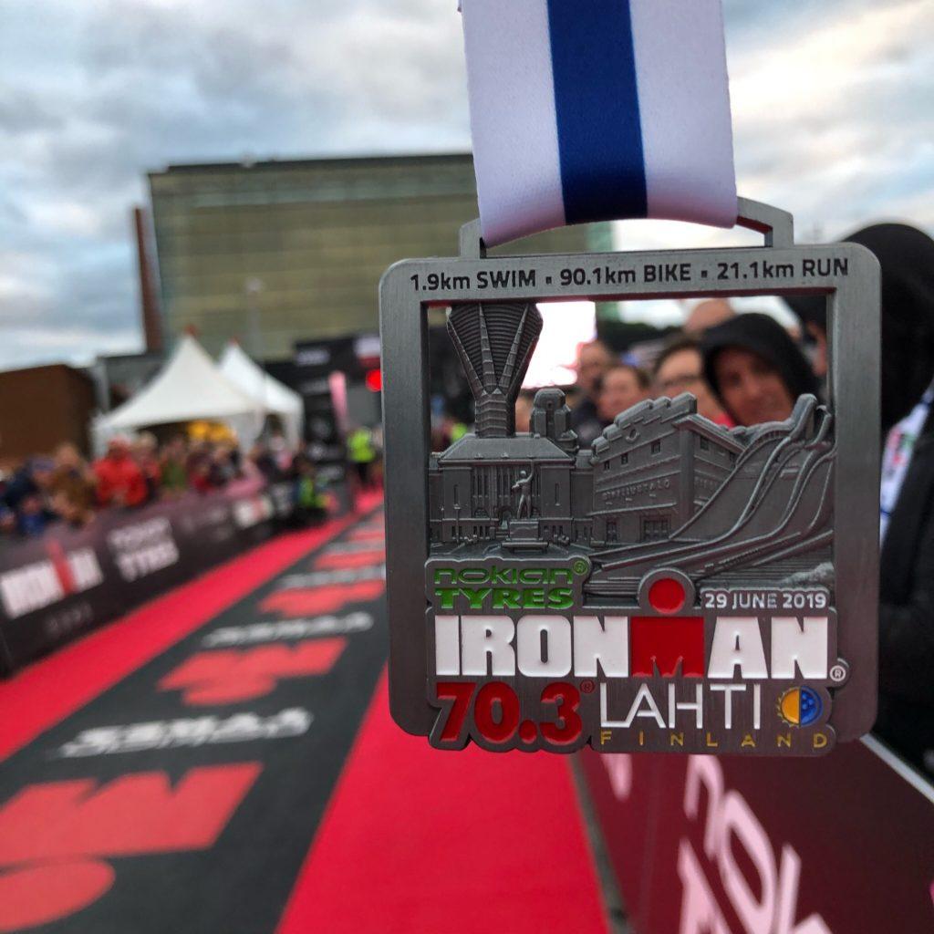 Медаль Ironman 70.3 Lahti