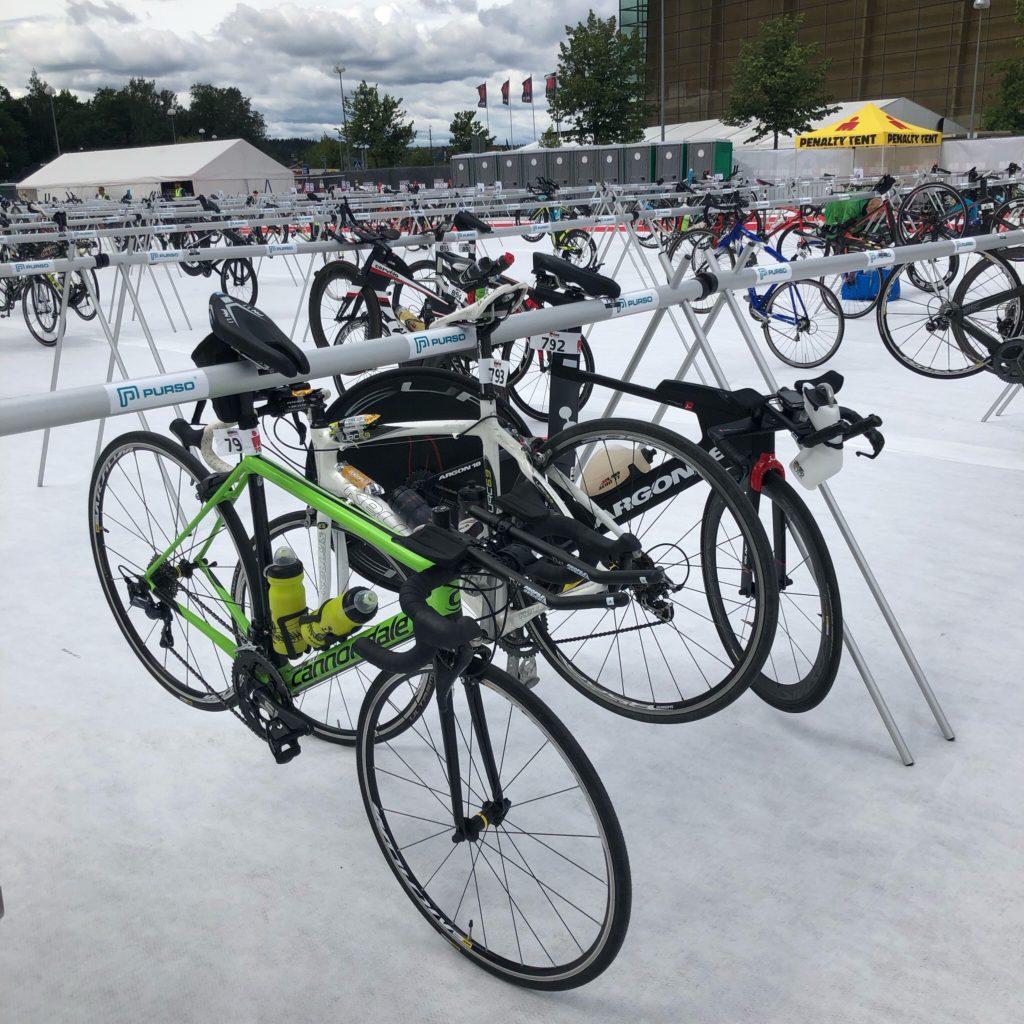 Транзитная зона Ironman 70.3 Lahti