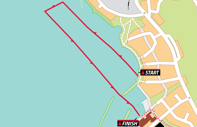 Плавательный этап Ironman 70.3 Lahti
