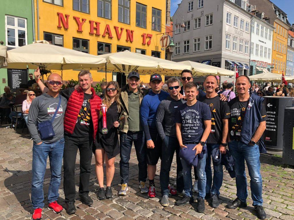 Команда друзей перед Ironman Copenhagen