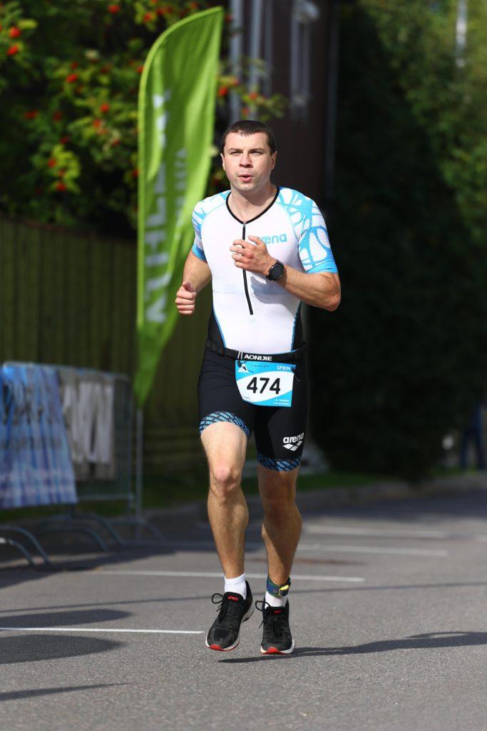 Бег на триатлоне А1 в Сестрорецке