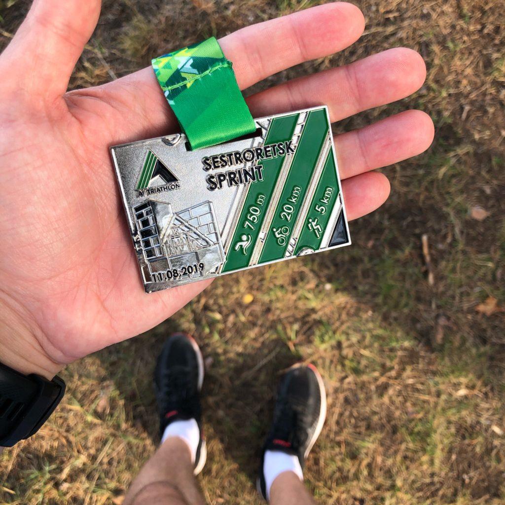 Медаль триатлона А1 в Сестрорецке
